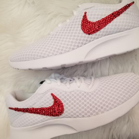 Nike Shoes - Custom bling Nike Tanjun Red